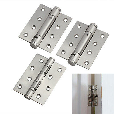 £12.99 • Buy 3pcs 4'' Door Hinges Fire Rated Single Action Self Closing Spring Hinges Chrome
