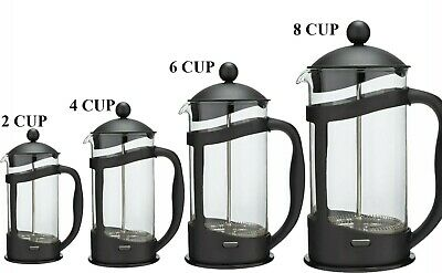 Coffee Maker Home 3 / 4 / 8 Cafetiere Plunger French Press Black Tea Americano • 7.87£
