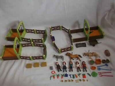 Playmobil Spirit Horse Collection - 3 Horse Stalls With Figures - VGC • 20£