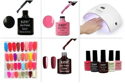 BLUESKY Shellac Nail Gel Polish UV LED Drier Base Matte Top Coat Varnish Colour • 3.99£