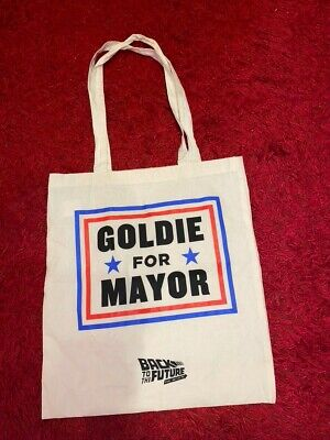 Back To The Future The Musical Press Preview Exclusive Goldie For Mayor Tote Bag • 8.99£