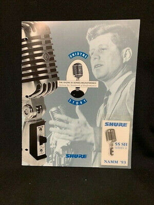Shure Bro's Unidyne Story Brochure And NAMM Shure 55 MIcrophone Tag • 16.57£
