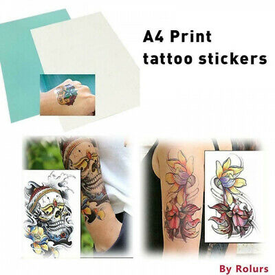 £3.41 • Buy A4 DIY Printing Paper Temporary Tattoo Transfer Decal Papers For Inkjet Printer