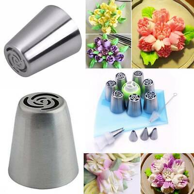 15pcs Russian Flower Cake Decorating Nozzle Stainless Steel Icing Piping Nozzles • 5.99£