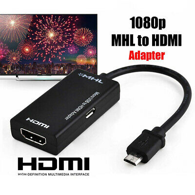 AU11.99 • Buy MHL Micro USB To 1080P HDMI HD TV Adapter Cable For Samsung Android Smart Phone