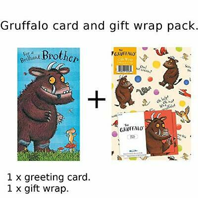 £4.99 • Buy Gruffalo Gift Wrap And Card Set - Brother Birthday Card NEW