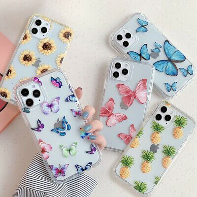 AU6.19 • Buy For IPhone 12 11 Pro Max XS XR 7 8 SE 2020 Shockproof Butterfly Clear Case Cover