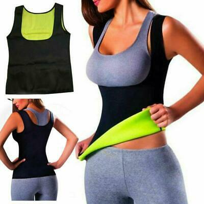 Hot Thermo Sweat Body Shaper Slimming Waist Trainer Cincher Yoga Gym Top Vest • 4.28£