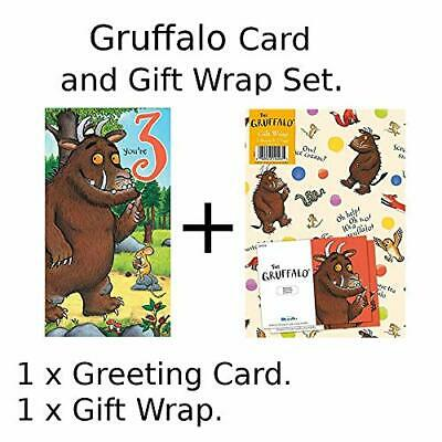 £3.99 • Buy Card And Gift Wrap Pack - Hey Gruffalo Age 3 Birthday Card NEW