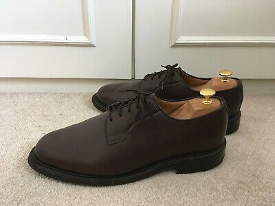 Sanders For Jigsaw Brown Calf Derby Shoes UK10 • 75£