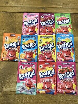 Kool Aid 10 Different Flavours Sachets 4.2g. • 12£