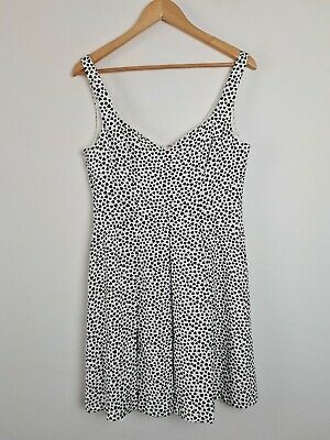 AU30 • Buy FOREVER NEW White Pleated Heart A-Line Party Dress Women's Size 12 Fit & Flare