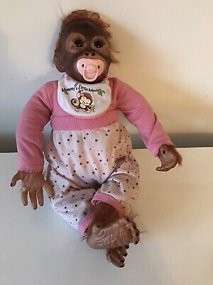 RARE ASHTON DRAKE Loving Touch Baby MONKEY HUGS COLLECTION Reborn DARLENE AUSTIN • 119.99£