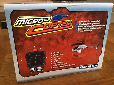MICRO COPTER INFRARED REMOTE CONTROL  MINITURE LIGHTWEIGHT TRI-band Technology • 7£