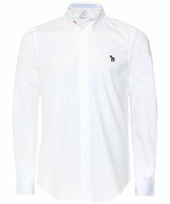 £74.99 • Buy Paul Smith Mens Tailored Fit Button Down Embroidered Zebra Shirt White