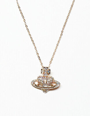 Saturn Heart Orb Necklace Chain Jewellery Vivienne Westwood Inspired Style • 6.49£