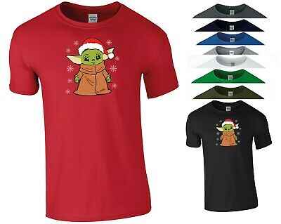 Santa Baby Yoda T Shirt The Mandalorian Star Wars Funny Xmas Gift Men Tee Top • 9.99£