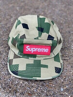 $ CDN109.93 • Buy Supreme Military Camp Cap Hat Digital Camo Olive Green FW20 NWT 5 Five Panel