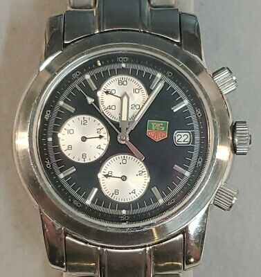 $ CDN792.86 • Buy VINTAGE Tag Heuer Chronograph Men's Watch Black