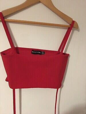 Red Tube Top With Wrap & Tie String- Size 6- Pretty Little Thing • 4£