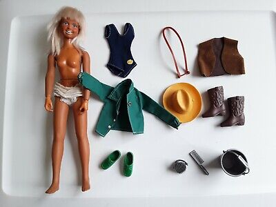 $14.99 • Buy Vtg Dusty Doll & PARTS Kenner Nugget Golden Palomino Hat Horse Pail Brush Vest