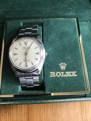 $ CDN1608.91 • Buy Vintage Rolex Men's Silver Dial Oyster Perpetual Watch Automatic 34mm