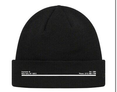 $ CDN79.10 • Buy Supreme New Era Shop Beanie Black NYC Order Confirmed Authentic Hat