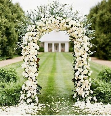 $26.15 • Buy 7.9ft Metal Army Green Arch Wedding Party Prom Garden Floral Decoration US