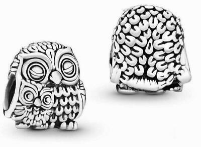 £11.99 • Buy Genuine Pandora Mother Owl And Baby Owl Charm 791966 Sterling Silver ALE 925