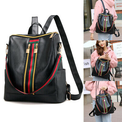 Women Ladies Anti-theft Travel Waterproof Leather Backpack Handbag Shoulder Bags • 6.79£