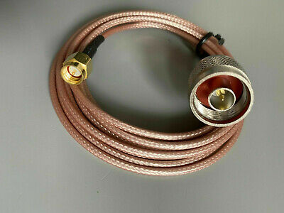 £4.99 • Buy N Type Male To SMA Male RG316 RF Coaxial Cable Wire 6.6Ft 2M 200cm UK Seller