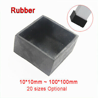£1.89 • Buy Square Rubber End Cap , Chair ,Table, Feet, Pipe Tubing End Cover Caps Black