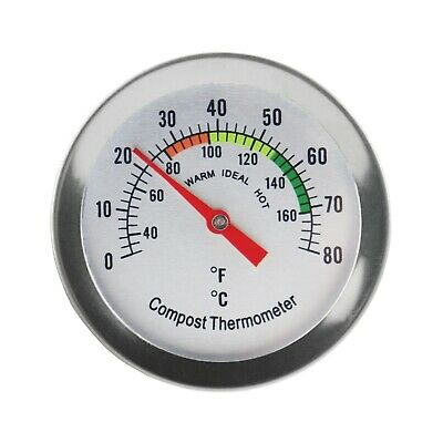 Compost Thermometer Backyard Composting - 50 Mm Dial & 295 Mm Probe - In-148 • 9.95£