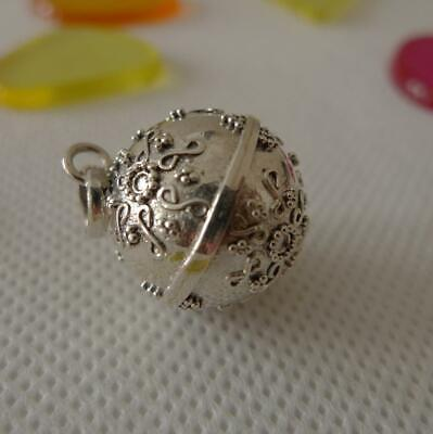 Harmony Ball/Mexican Bola Sterling Silver Pendant 17mm SilverandSoul Jewellery • 24£