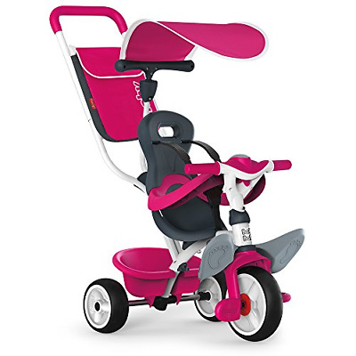Smoby Push Along Toddler Trike With Headrest, Removable Parent Handle And Safety • 105.92£