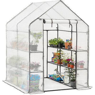 £64.99 • Buy Walk Greenhouse Garden Grow House Reinforced Cover 8 Shelves Extra Large 6ft