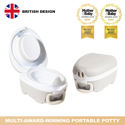 My Carry Potty Grey Premium Travel Potty Portable Toddler Baby Kids Toilet Seat • 22.95£