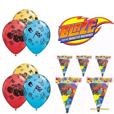 Blaze And The Monster Machine Birthday Party Latex Balloons. Party Decorations  • 4.19£