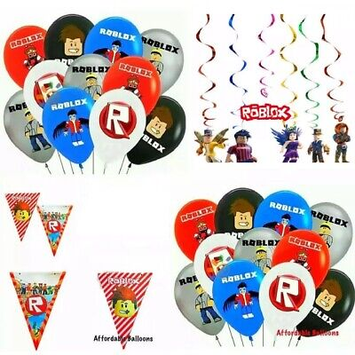 £4.19 • Buy Roblox Themed Party Decorations Supplies. Roblox Happy Birthday Balloons