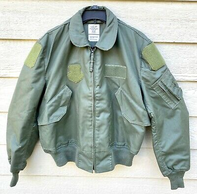 $ CDN234.15 • Buy Genuine Usaf Green Nomex Fire Resistant Summer Flyers Jacket Cwu-36/p - Large