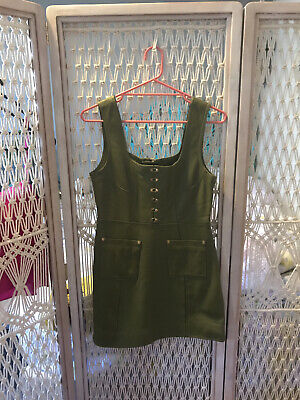 AU70 • Buy Alice Mccall Olive Leather Dress Sz 10