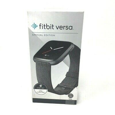 $ CDN148.82 • Buy Fitbit FB505BKGY Versa Special Edition - Charcoal Woven Band