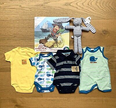 AU25 • Buy Baby Boy Clothes Rompers Bulk Bundle Size 000-0 3-9 Months With Toys