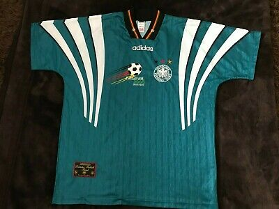 Germany Football Shirt Jersey Hemd 1996 1998 Away Adidas Retro Vintage Large  • 37.99£