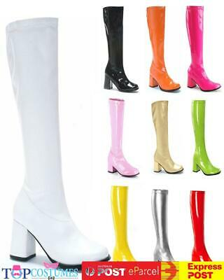 AU54.90 • Buy Go Go Knee High Ladies Gogo Boots Hippie Hippy 60s 70s Disco Costume Shoes