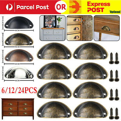 AU18.95 • Buy 6-24X Cupboard Door Cabinet Cup Drawer Furniture Retro Antique Pull Shell Handle
