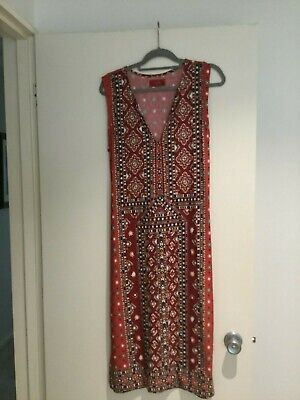 AU25 • Buy Tigerlily Annahata Red Rust Dress Medium. In Great Condition.