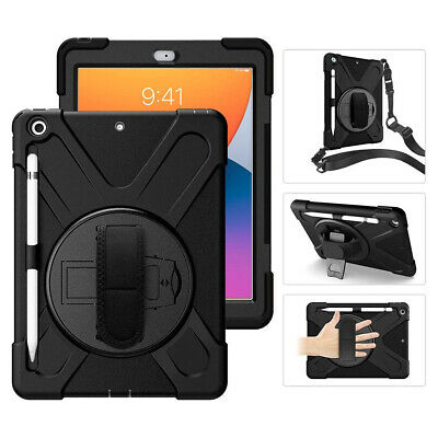 AU65.99 • Buy Rugged [Black] Military Drop Tested IPad 8th Gen Case With Shockproof PC Frame