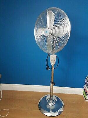 Aironic Chrome 3-Speed 16-Inch Pedestal Floor Fan With Remote Control 4hr Timer  • 25£