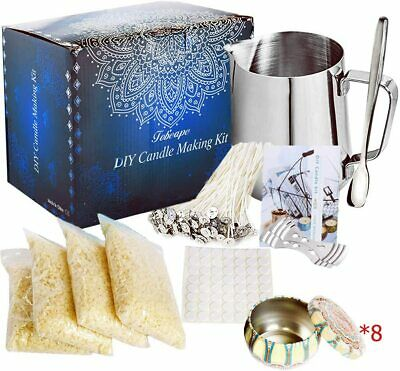 £29.55 • Buy Beginners Candle Making Kit Starter Set To Create Large Scent Scented Soy Wax